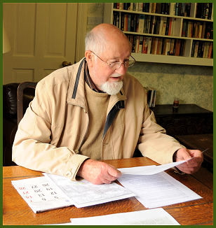 Noel Scanlon Novelist in his study